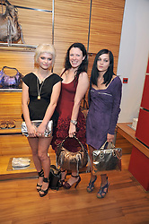 Left to right, PIXIE GELDOF, KATIE GRAND and LEIGH LEZARK at a party in aid of the charity Best Buddies held at the Hogan store, 10 Sloane Street, London SW10 on 13th May 2009.