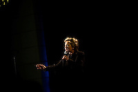 Presidential Candidate Hillary Clinton speaks to a crowd of supporters at a campaign event in Washington, DC on Thursday, December 6, 2007.
