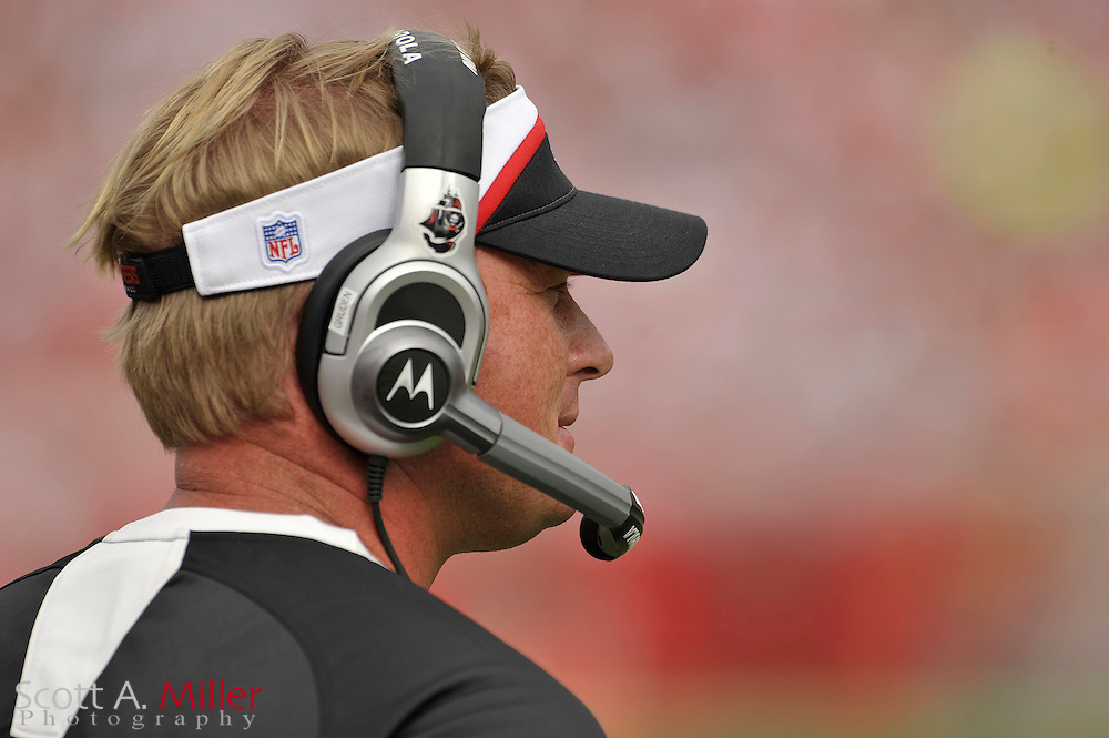 Dec. 30, 2007; Tampa, FL, USA; Tampa Bay Buccaneers coach Jon Gruden during the Bucs game against the Carolina Panthers at Raymond James Stadium.                        ©2007 Scott A. Miller..©2007 Scott A. Miller