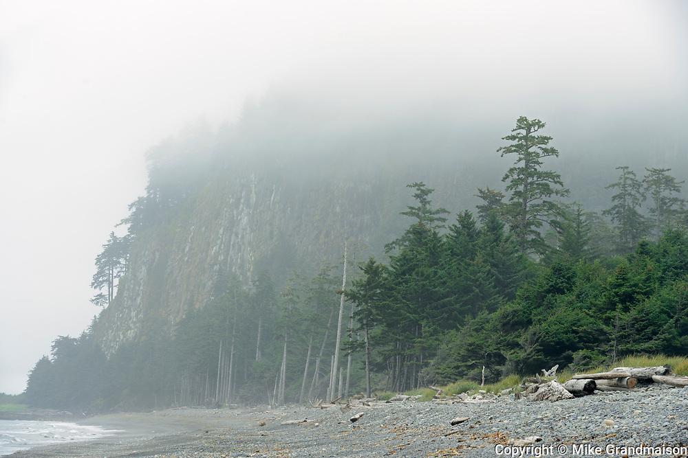 Fog on Agate Beach. Naikoon Provincial Park. Graham Island. , Haida Gwaii (formerly the Queen Charlotte Islands), British Columbia, Canada