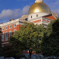 This Boston photo image of the Massachusetts State House is available as museum quality photography prints, canvas prints, acrylic prints or metal prints. Prints may be framed and matted to the individual liking and wall decoration needs: <br />