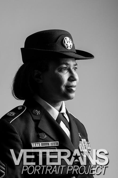 Decole R. Russell<br /> Army<br /> E-6<br /> Medical Laboratory <br /> Sept. 1, 1990 - May 31, 2013<br /> Gulf War<br /> <br /> Veterans Portrait Project<br /> Wheaton, MD