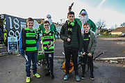 Green Cola handing out free drinks to children during the EFL Sky Bet League 2 match between Forest Green Rovers and Crewe Alexandra at the New Lawn, Forest Green, United Kingdom on 22 December 2018.