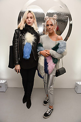 Left to right, Gemma Styles and Lottie Tomlinson at the Charlotte Simone LFW Autumn Winter 2017 showcase, The Vinyl Factory, 51 Poland Street, London England. 17 February 2017.