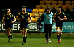 Donncha O'Callaghan of Worcester Warriors acts as a water boy for Worcester Cavaliers - Mandatory by-line: Robbie Stephenson/JMP - 03/04/2017 - RUGBY - Sixways Stadium - Worcester, England - Worcester Cavaliers v Wasps A - Aviva A League