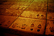 Porter Wagoner hand and foot prints in cement outside on the sidewalk of The Country Music Wax Museum and the Sidewalk of Fame in Nashville, TN (1999)