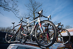 Boels Dolmans spare bikes ready to race - 2016 Omloop het Nieuwsblad - Elite Women, a 124km road race from Vlaams Wielercentrum Eddy Merckx to Ghent on February 27, 2016 in East Flanders, Belgium.