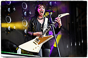 Halestorm Performs during the Welcome to Rockville festival on April 27, 2018 at Metro Park in Jacksonville, FL  (Photo by Chris Condon/PGA TOUR)