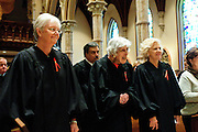 "Illinois Supreme Court Justices (L to R) Mary Jane Theis, Mary Ann G. McMorrow (retired) and Anne M. Burke lead a procession of fellow judges, law school professors and members of the Catholic Lawyers Guild during the 78th Annual Votive Mass of the Holy Spirit, or ""Red Mass"" at Holy Name Cathedral in Chicago. September 30, 2012 l Brian J. Morowczynski~ViaPhotos..For use in a single edition of Catholic New World Publications, Archdiocese of Chicago. Further use and/or distribution may be negotiated separately. Contact ViaPhotos at 708-602-0449 or email brian@viaphotos.com."