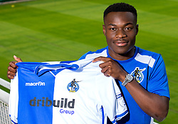 Marc Bola  signs for Bristol Rovers ahead of the 2017/18 EFL Sky Bet League One Season - Mandatory by-line: Robbie Stephenson/JMP - 14/07/2017 - FOOTBALL - Memorial Ground - Bristol, England - EFL Sky Bet League One