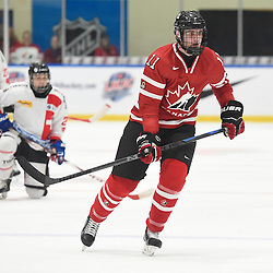 WHITBY, - Dec 13, 2015 -  WJAC Game 2- Team Switzerland vs Team Canada East at the 2015 World Junior A Challenge at the Iroquois Park Recreation Complex, ON. Sam Dunn #11 of Team Canada East skates up the ice during the second period.<br /> (Photo: Andy Corneau / OJHL Images)