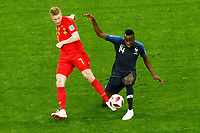 SAINT PETERSBURG, RUSSIA - JULY 10: Blaise Matuidi (R) of France national team and Kevin De Bruyne of Belgium national team vie for the ball during the 2018 FIFA World Cup Russia Semi Final match between France and Belgium at Saint Petersburg Stadium on July 10, 2018 in Saint Petersburg, Russia. MB Media