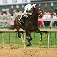 1 May 2009: Rachel Alexandra and Calvin Borel crush the field in the 135th running of the Kentucky Oaks at Churchill Downs in Louisville, Kentucky.