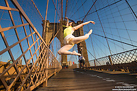 Dance As Art  New York City Photography Brooklyn Bridge Series with dancer, Xiaoxiao Cao