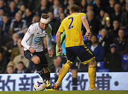 Tottenham's forward Harry Kane and Sunderland's defender Phillip Bardsley   - Photo mandatory by-line: Mitchell Gunn/JMP - Tel: Mobile: 07966 386802 07/04/2014 - SPORT - FOOTBALL - White Hart Lane - London - Tottenham Hotspur v Sunderland - Premier League