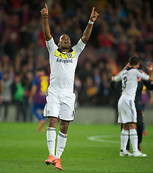24.04.2012, Stadion Camp Nou, Barcelona, ESP, UEFA CL, Halblfinal-Rueckspiel, FC Barcelona (ESP) vs FC Chelsea (ENG), im Bild Chelsea's Didier Drogba celebrates his side's 3-2 victory over FC Barcelona after the UEFA Championsleague Halffinal 2st Leg Match, between FC Barcelona (ESP) and FC Chelsea (ENG), at the Camp Nou Stadium, Barcelona, Spain on 2012/04/24. EXPA Pictures © 2012, PhotoCredit: EXPA/ Propagandaphoto/ David Rawcliff..***** ATTENTION - OUT OF ENG, GBR, UK *****