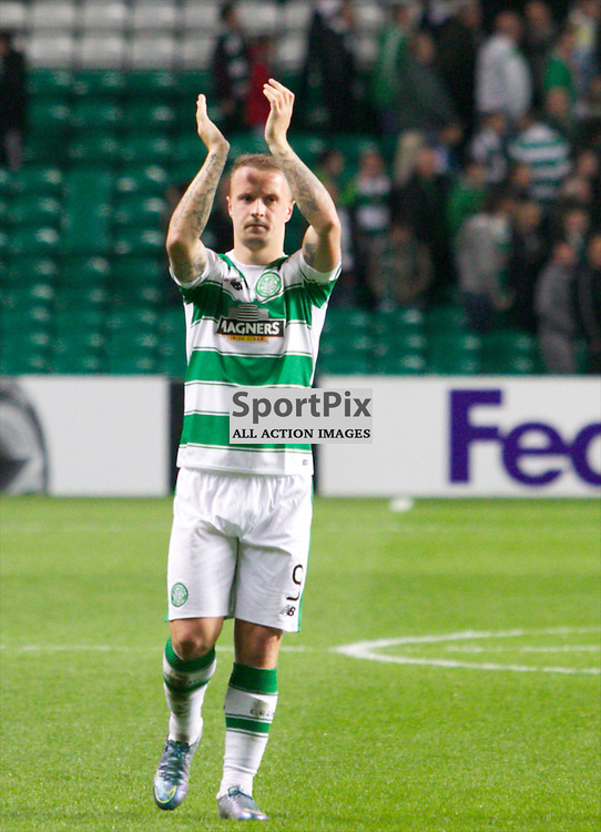 Celtic's Leigh Griffiths at the end of the Glasgow Celtic FC v Fenerbahçe S.K Europa League Group A 1st October 2015 ©Edward Linton | SportPix.org.uk