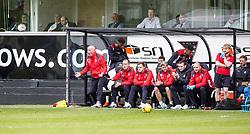 Falkirk's manager Peter Houston. Dunfermline 1 v 2 Falkirk, Scottish Championship game played 22/4/2017 at Dunfermline's home ground, East End Park.