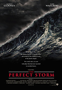 Film Poster showing Rising waves during a perfect storm event