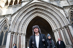 February 5, 2018 - London, UK - Alleged computer hacker Lauri Love arrives at the High Court to find out if he has successfully challenged a ruling that he can be extradited to the US. (Credit Image: © Tom Nicholson/London News Pictures via ZUMA Wire)