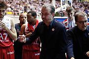 Pianigiani Simone time out Armani Milano, RED OCTOBER CANTU' vs EA7 EMPORIO ARMANI OLIMPIA MILANO, gara 3 Quarti di Finale Play off Lega Basket Serie A 2017/2018, PalaDesio Desio (MB) 16 maggio 2018 - FOTO: Bertani/Ciamillo