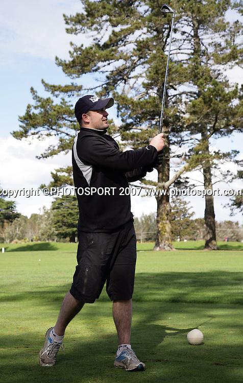 Corey Lawrie. Warriors golf day. Huapai Golf Club, Auckland, New Zealand. Monday 13 August 2007. Photo: Hagen Hopkins/PHOTOSPORT
