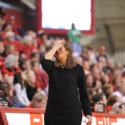 Jan 31, 2009; Piscataway, NJ, USA; Rutgers head coach C. Vivian Stringer reacts to a foul called against forward Brooklyn Pope (not pictured) during the final minute of South Florida's 59-56 victory over Rutgers in NCAA women's college basketball at the Louis Brown Athletic Center