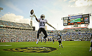 during the second half of an NFL football game, Sunday, Dec. 22, 2013, in Jacksonville, Fla. The Titans beat the Jaguars 20-16. (AP Photo/Stephen Morton)