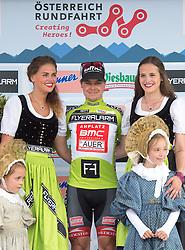 12.07.2015, Innsbruck, AUT, Österreich Radrundfahrt, 8. Etappe, von Innsbruck nach Bregenz, im Bild Jan Tratnik (SLO, 1. Platz Punktewertung) // 1st place points classificatin Jan Tratnik of Slowenia during the Tour of Austria, 8th Stage, from Innsbruck to Bregenz, Innsbruck, Austria on 2015/07/12. EXPA Pictures © 2015, PhotoCredit: EXPA/ Reinhard Eisenbauer