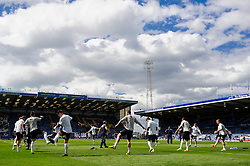 Bristol Rovers players warm up before the match - Photo mandatory by-line: Rogan Thomson/JMP - 07966 386802 - 19/04/2014 - SPORT - FOOTBALL - Fratton Park, Portsmouth - Portsmouth FC v Bristol Rovers - Sky Bet Football League 2.
