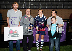 Becky Hughes of Bristol Bears Women receives player of the match award from Cancer Research and Squirrels Bootcamp - Mandatory by-line: Paul Knight/JMP - 19/01/2019 - RUGBY - Shaftesbury Park - Bristol, England - Bristol Bears Women v Worcester Valkyries - Tyrrells Premier 15s