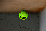 Tennis ball 2017 illustration sponsored by Babolat during the Roland Garros French Tennis Open 2017, preview, on May 25, 2017, at the Roland Garros Stadium in Paris, France - Photo Stephane Allaman / ProSportsImages / DPPI
