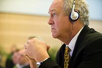 """26 NOV 2008, BERLIN/GERMANY:<br /> Dr. Patrick Moore, Chair and Chief Scientist Greenspirit Strategies Ltd, 3. Deutscher Klimakongress der EnBW unter dem Motto """"Klimaschutz - Was ist machbar?"""", dbb-Forum<br /> IMAGE: 20081126-01-084"""