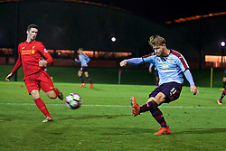 KIRKBY, ENGLAND - Wednesday, November 23, 2016: Burnley's Brad Jackson in action against Liverpool during the Lancashire Senior Cup 2nd Round match at the Academy. (Pic by David Rawcliffe/Propaganda)