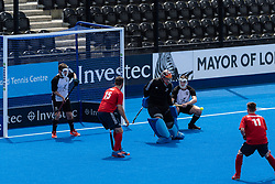 Horsham v City of Peterborough - Mixed Championships Tier 1 3rd/4th Play off, Lee Valley Hockey & Tennis Centre, London, UK on 03 June 2018. Photo: Simon Parker