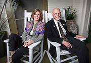 New Orleans Super Bowl Host Committee Co-Chairs Mary Matalin and James Carville on their porch; New Orleans Convention and Visitors Bureau