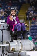 KELOWNA, CANADA - MARCH 02: Orchard Park Zamboni Rider at the Kelowna Rockets game on March 02, 2019 at Prospera Place in Kelowna, British Columbia, Canada. (Photo By Cindy Rogers/Nyasa Photography, *** Local Caption ***