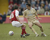 Photo: Aidan Ellis.<br /> Rotherham United v Bristol City. Coca Cola League 1. 25/03/2006.<br /> Bristol's Scott Murray takes on Rotherham's Lee Williamson