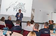 ERHVERV: Direktør Janus Kyhl (FC Helsingør) taler ved FC Helsingør Netværksmøde på Comwell Borupgaard i Snekkersten den 13. juni 2017. Foto: Claus Birch