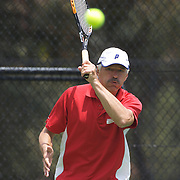 Helmut Flagel, Austria, in action in the 60 Mens Singles  during the 2009 ITF Super-Seniors World Team and Individual Championships at Perth, Western Australia, between 2-15th November, 2009.