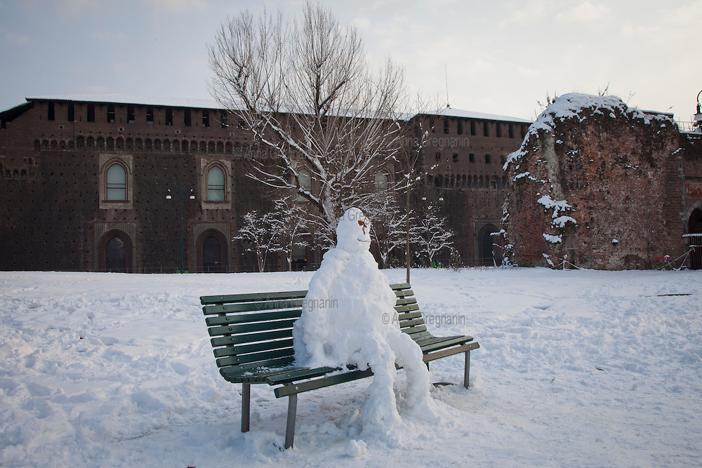 Nevicata a Milano. Dodici centimetri di neve in due giorni