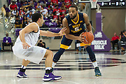 FORT WORTH, TX - JANUARY 4: Jaysean Paige #5 of the West Virginia Mountaineers brings the ball up court against the TCU Horned Frogs on January 4, 2016 at Ed and Ray Schollmaier Arena in Fort Worth, Texas.  (Photo by Cooper Neill/Getty Images) *** Local Caption *** Jaysean Paige