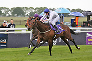 SUMMER SANDS (6) ridden by Barry McHugh and trained by Richard Fahey winning The Truckingby Brian Yeardley Two Year Old Trophy Conditions Stakes over 5f (£40,000)   during a Very British Raceday at Beverley Racecourse, Beverley, United Kingdom on 8 June 2019.
