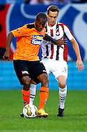 Onderwerp/Subject: Willem II - FC Volendam - Jupiler League<br /> Reklame:  <br /> Club/Team/Country: <br /> Seizoen/Season: 2013/2014<br /> FOTO/PHOTO: Freek HEERKENS (R) of Willem II in duel with Ludcinio MARENGO (L) of FC Volendam. (Photo by PICS UNITED)<br /> <br /> Trefwoorden/Keywords: <br /> #04 $94 &plusmn;1372506528100<br /> Photo- &amp; Copyrights &copy; PICS UNITED <br /> P.O. Box 7164 - 5605 BE  EINDHOVEN (THE NETHERLANDS) <br /> Phone +31 (0)40 296 28 00 <br /> Fax +31 (0) 40 248 47 43 <br /> http://www.pics-united.com <br /> e-mail : sales@pics-united.com (If you would like to raise any issues regarding any aspects of products / service of PICS UNITED) or <br /> e-mail : sales@pics-united.com   <br /> <br /> ATTENTIE: <br /> Publicatie ook bij aanbieding door derden is slechts toegestaan na verkregen toestemming van Pics United. <br /> VOLLEDIGE NAAMSVERMELDING IS VERPLICHT! (&copy; PICS UNITED/Naam Fotograaf, zie veld 4 van de bestandsinfo 'credits') <br /> ATTENTION:  <br /> &copy; Pics United. Reproduction/publication of this photo by any parties is only permitted after authorisation is sought and obtained from  PICS UNITED- THE NETHERLANDS
