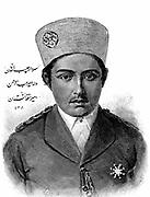 Habibollah Khan (1872-1919) in 1893. Eldest son of  'Abdor Rahman Khan and great-grandson of Dost Mohammad Khan. Ruler of Afghanistan 1901-1919: Barakzai dynasty. Wood engraving