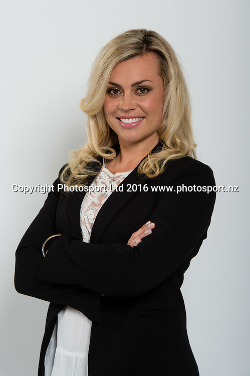 Laura McGoldrick. Sky Presenters headshots. Christchurch, New Zealand, 16th November 2016. © Copyright Photo: John Davidson / www.photosport.nz
