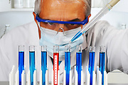 Scientist in a Laboratory Testing For the Corona Virus Cure