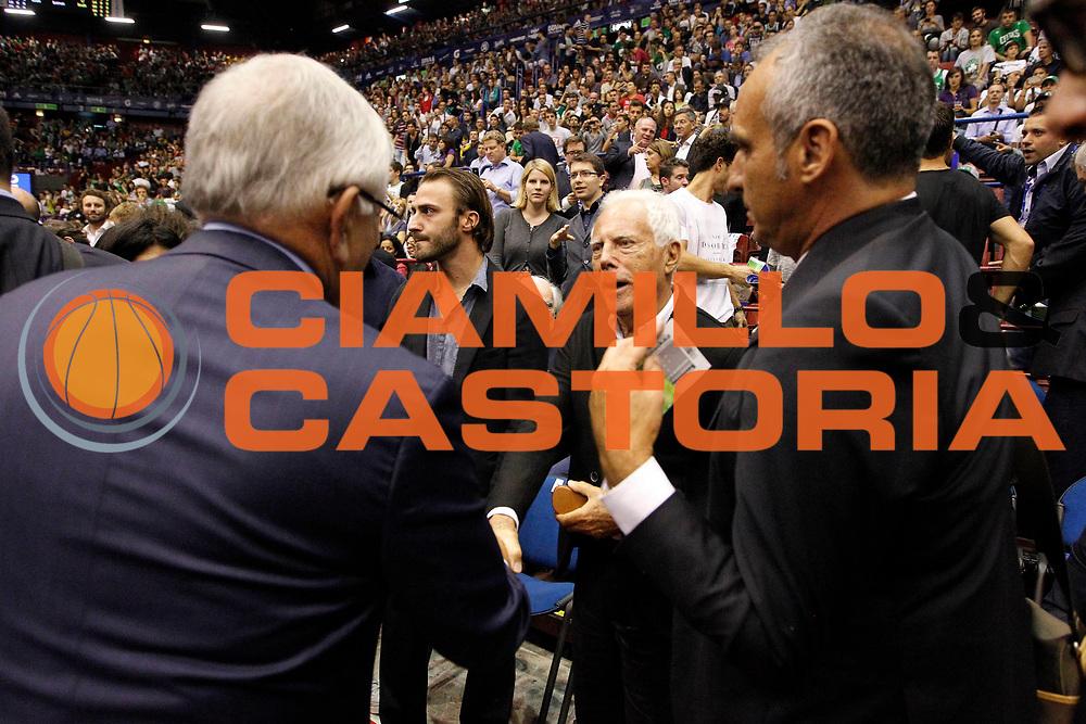 DESCRIZIONE : Milano Nba Europe Live Tour 2012 Ea7 Emporio Armani Milano Boston Celtics<br /> GIOCATORE : David Stern Giorgio Armani<br /> CATEGORIA : Ritratto<br /> SQUADRA : Ea7 Emporio Armani Milano<br /> EVENTO : Campionato Lega A 2012-2013<br /> GARA : Ea7 Emporio Armani Milano Boston Celtics<br /> DATA : 07/10/2012<br /> SPORT : Pallacanestro <br /> AUTORE : Agenzia Ciamillo-Castoria/G.Cottini<br /> Galleria : Lega Basket A 2012-2013  <br /> Fotonotizia : Milano Nba Europe Live Tour 2012 Ea7 Emporio Armani Milano Boston Celtics<br /> Predefinita :