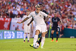 ST. LOUIS, USA - Monday, August 1, 2016: AS Roma's Leandro Paredes in action against Liverpool during a pre-season friendly game on day twelve of the club's USA Pre-season Tour at the Busch Stadium. (Pic by David Rawcliffe/Propaganda)