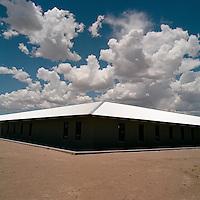 Roert Irwin installation at Chinati  in Marfa, Texas.